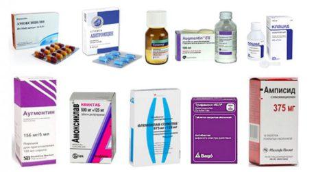 Антибиотики выбора