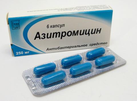 Азитромицин при бронхите.