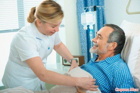 Какое лечение получает пациент в условиях стационара.