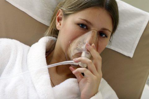 Кислородотерапия позволяет справиться с дыхательной недостаточностью