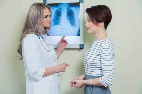 Опасность рака легких заключается в его бессимптомном течении.