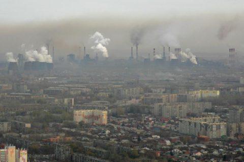 Загрязнение воздуха в промышленном городе