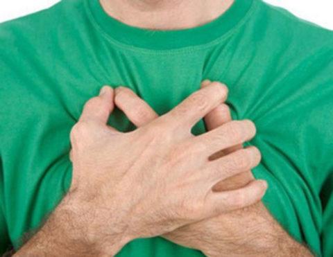 Одышка и боль в грудной клетке.