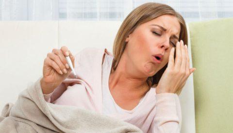 Непродуктивный кашель.