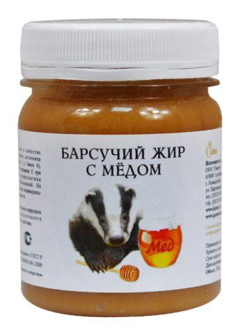 Медовая смесь барсучьего сала и натурального пчелиного меда