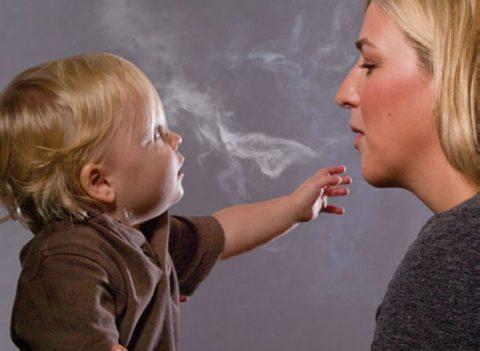 Дети, подверженные пассивному курению, рано сталкиваются с бронхолегочной патологией