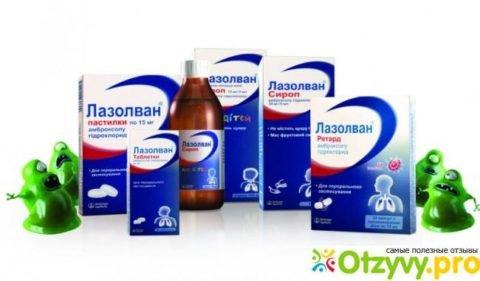 Препарат Лазолван обеспечивает процесс выведения мокроты.