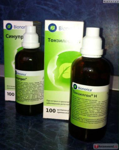 Препараты Тонзилгон и Синупрет часто используются