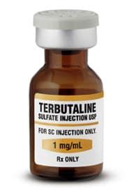 Тербуталин помогает победить спазм.