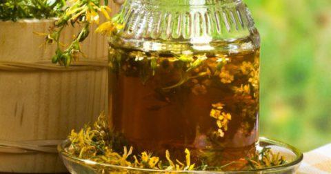 Травяной чай с коровяком.
