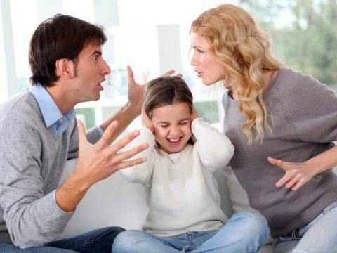 Дети не должны присутствовать в момент выяснения отношений.