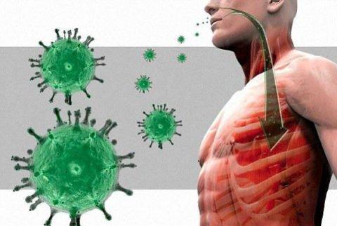 Пневмония развивается после попадания инфекции в легкие