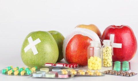 Витамины и фрукты для профилактики пневмонии
