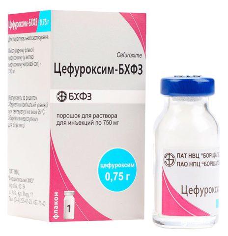 Антибиотик Цефуроксим для лечения бронхита в форме порошка для раствора инъекций