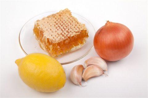 Ингредиенты, наиболее часто используемые вместе с медом в противокашлевых препаратах