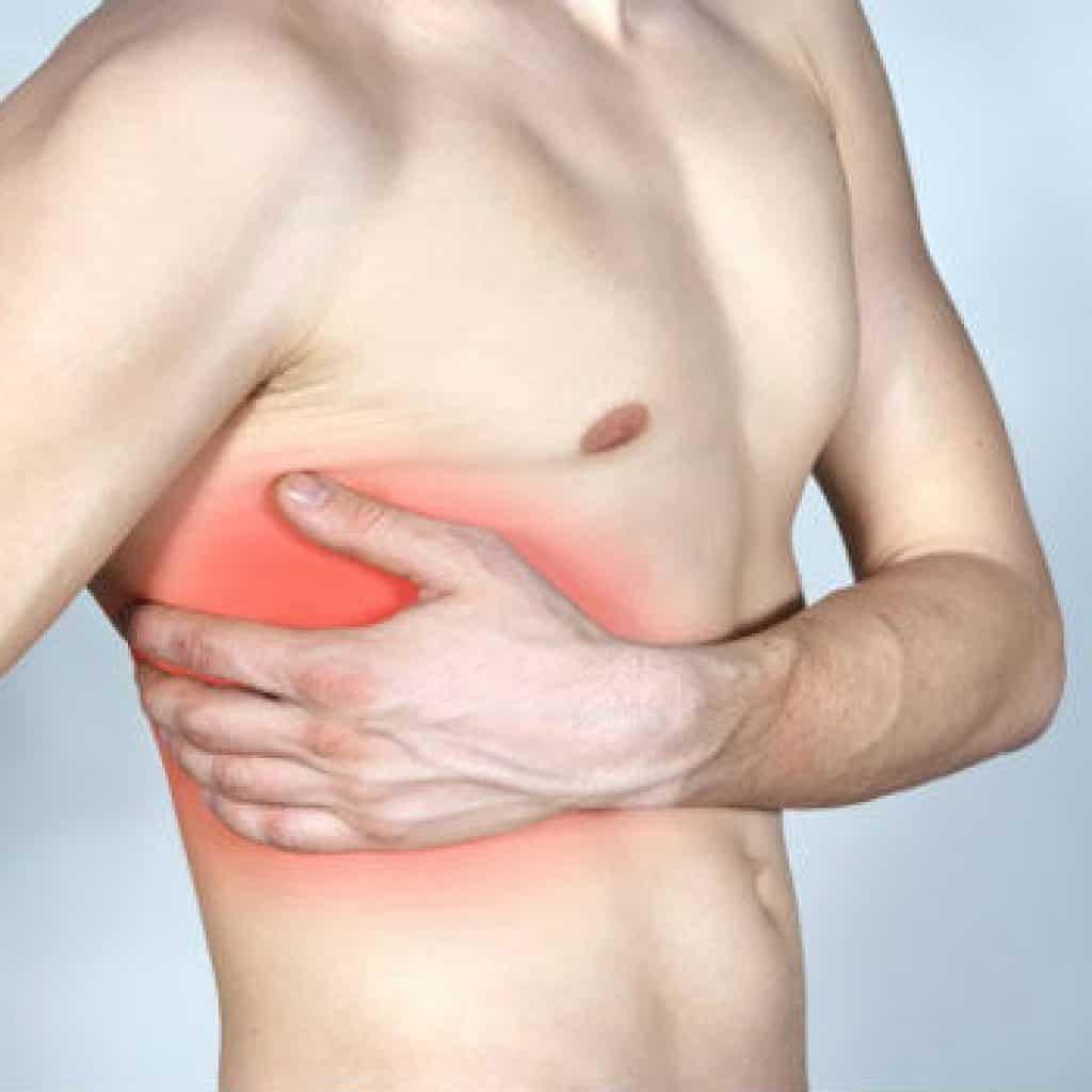 Боли в грудной клетке слева от позвоночника