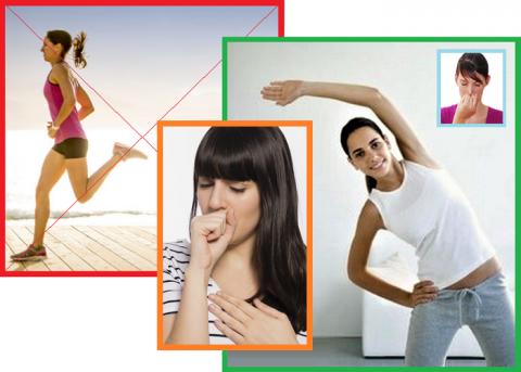Острый бронхит — противопоказание для спорта и фитнеса, только лечебная физкультура